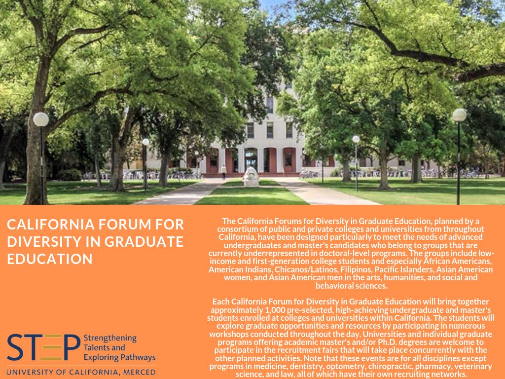 California Forum for Diversity in Graduate Education | Strengthening